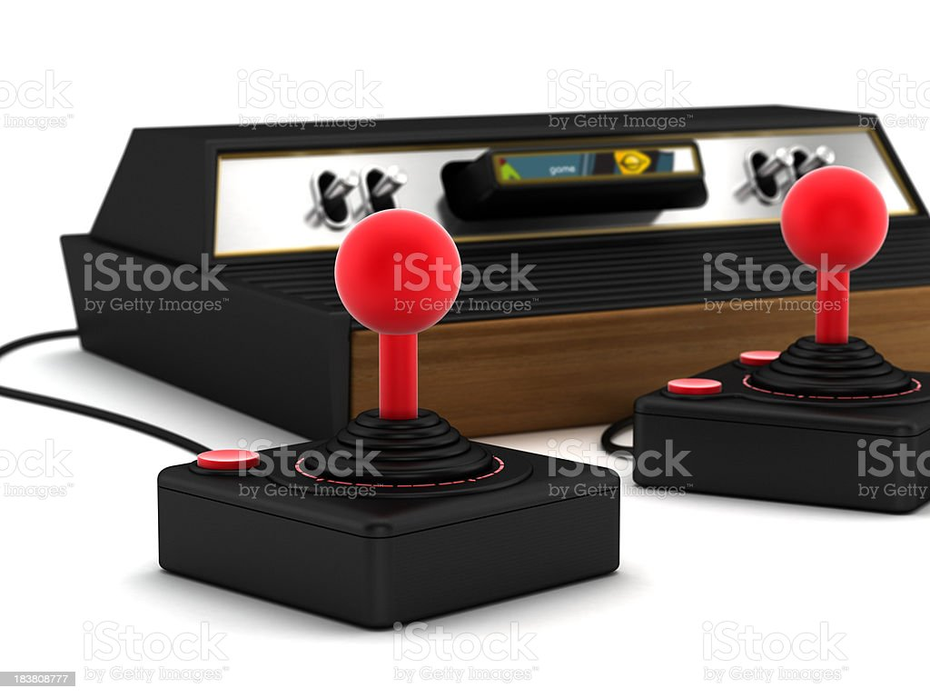 Retro game console royalty-free stock photo