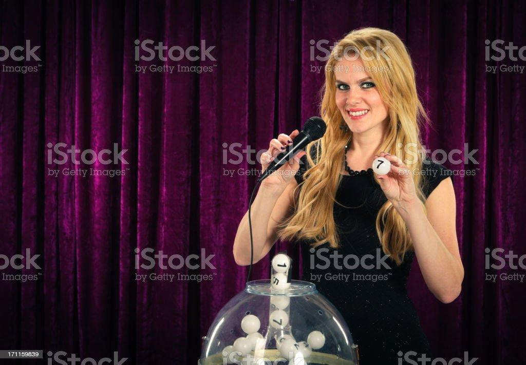 Retro Game Lottery Hostess stock photo