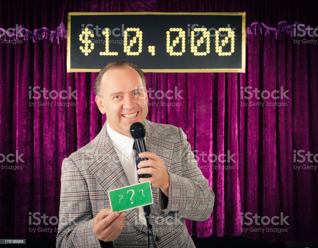 Retro Game Show Host stock photo