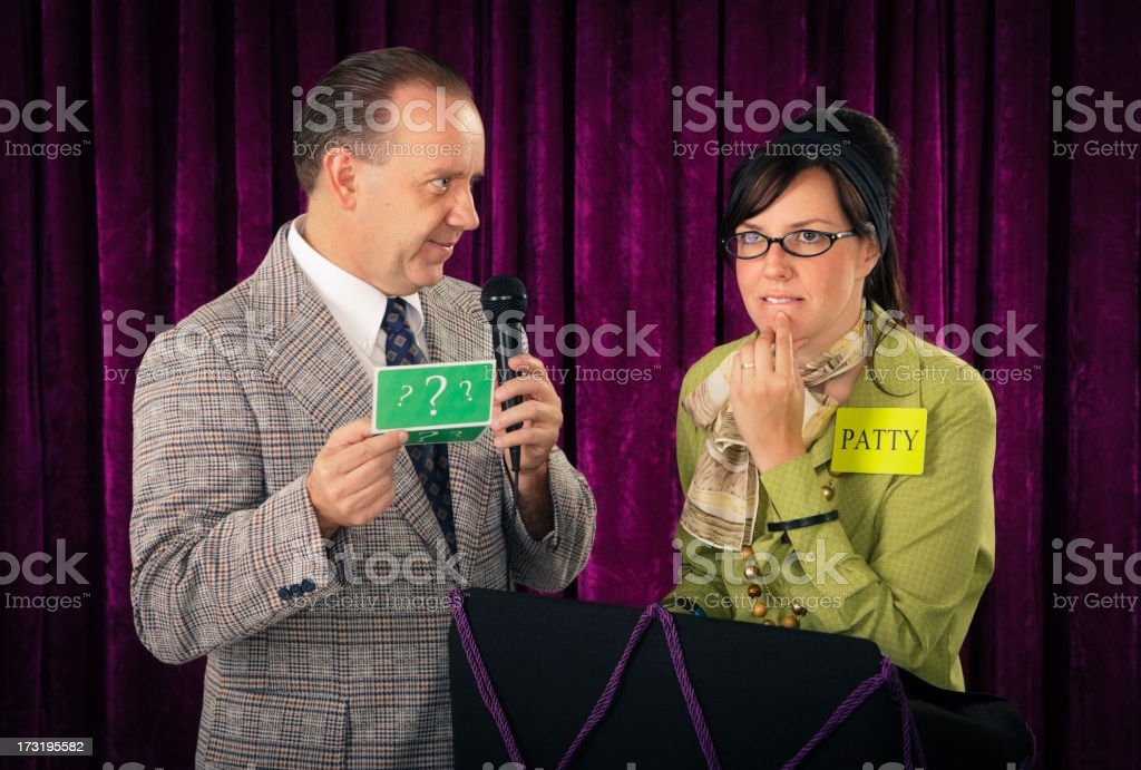 Retro Game Show stock photo