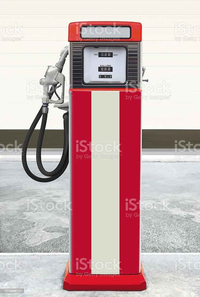 retro gas pump stock photo