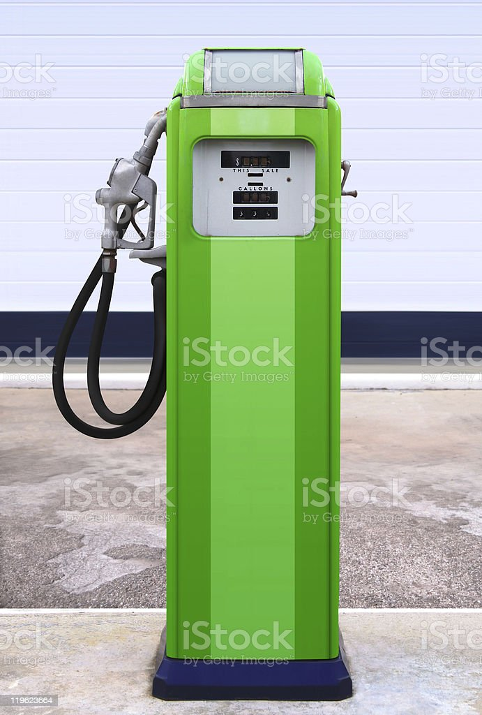 retro gasoline station royalty-free stock photo
