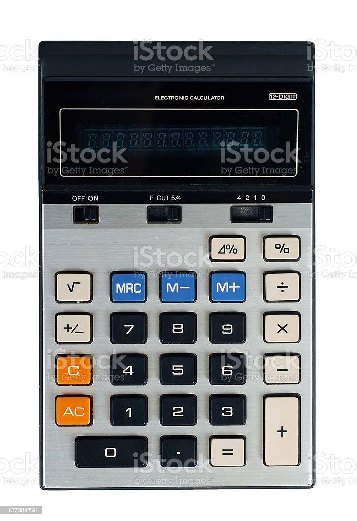 retro generic calculator royalty-free stock photo