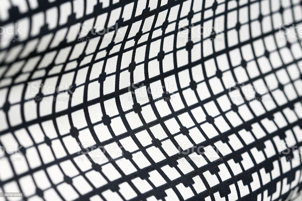 Retro geometric textile black and white pattern stock photo