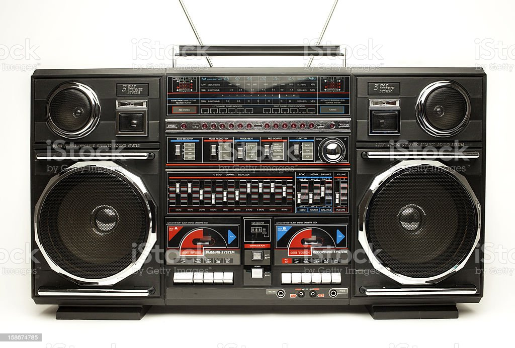 retro ghettoblaster stock photo