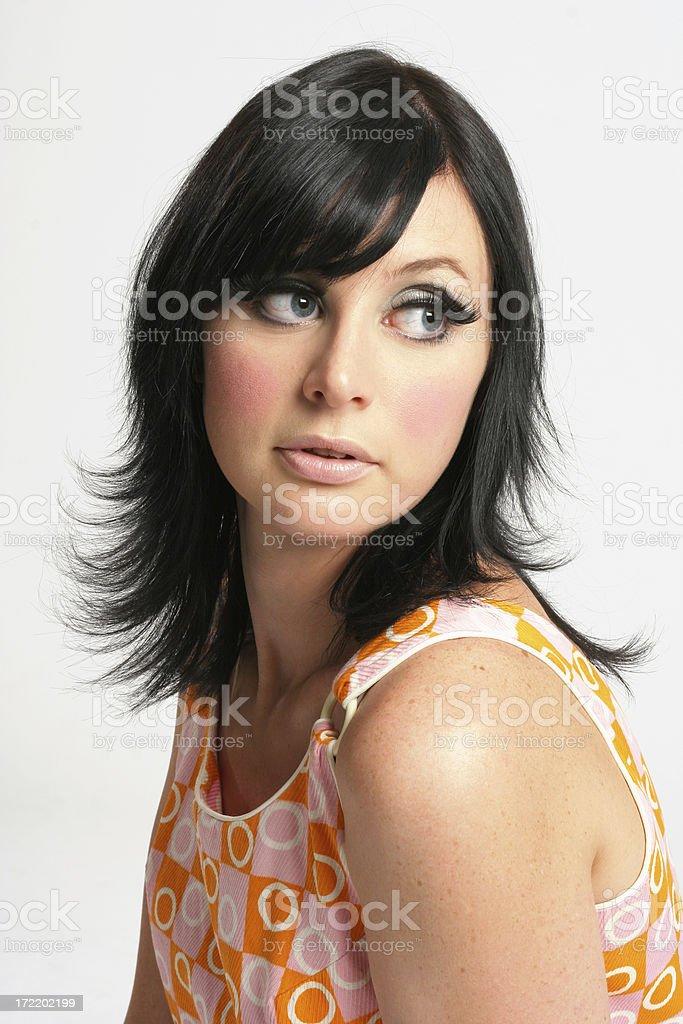 Retro Girl 60s - Erin stock photo