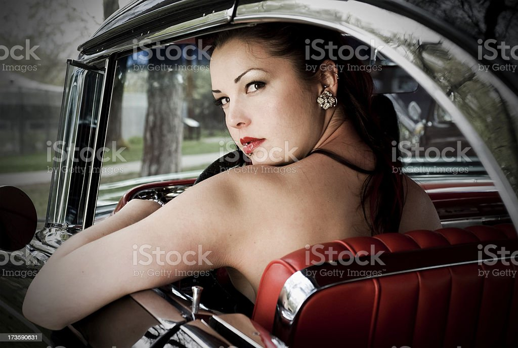 Retro Girl royalty-free stock photo