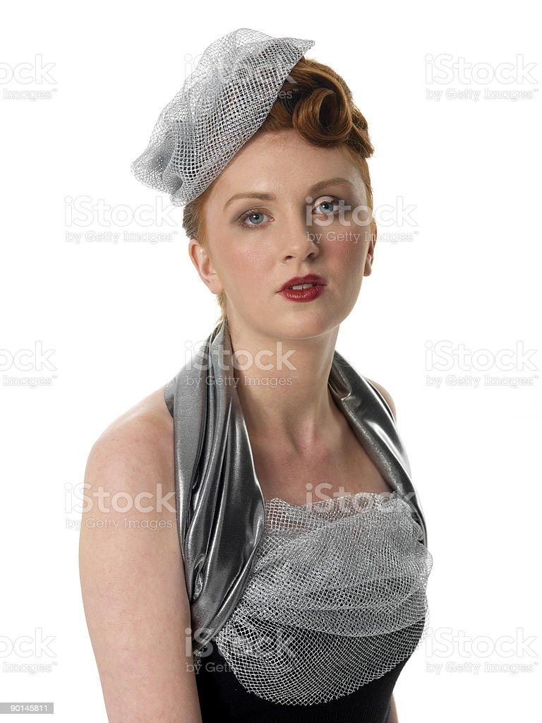 retro girl royalty-free stock photo