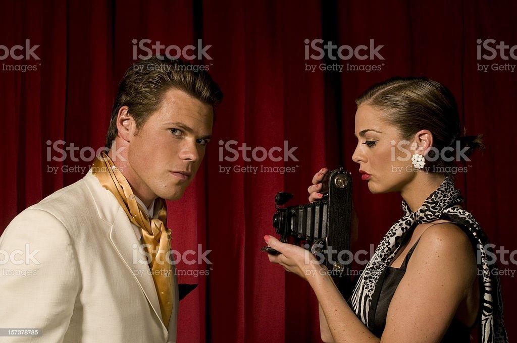 Retro Glamour royalty-free stock photo