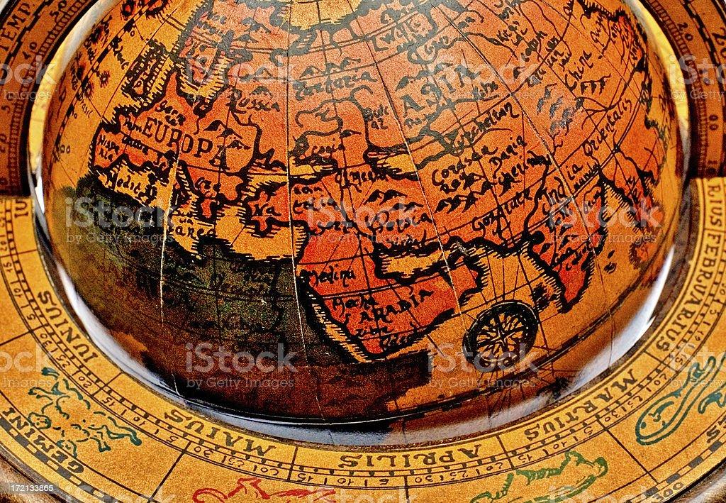 Retro Globe Detail royalty-free stock photo