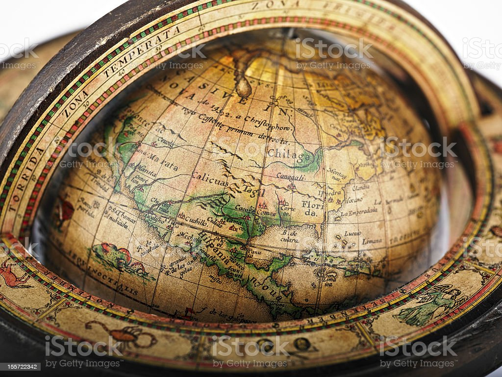 Retro Globe royalty-free stock photo