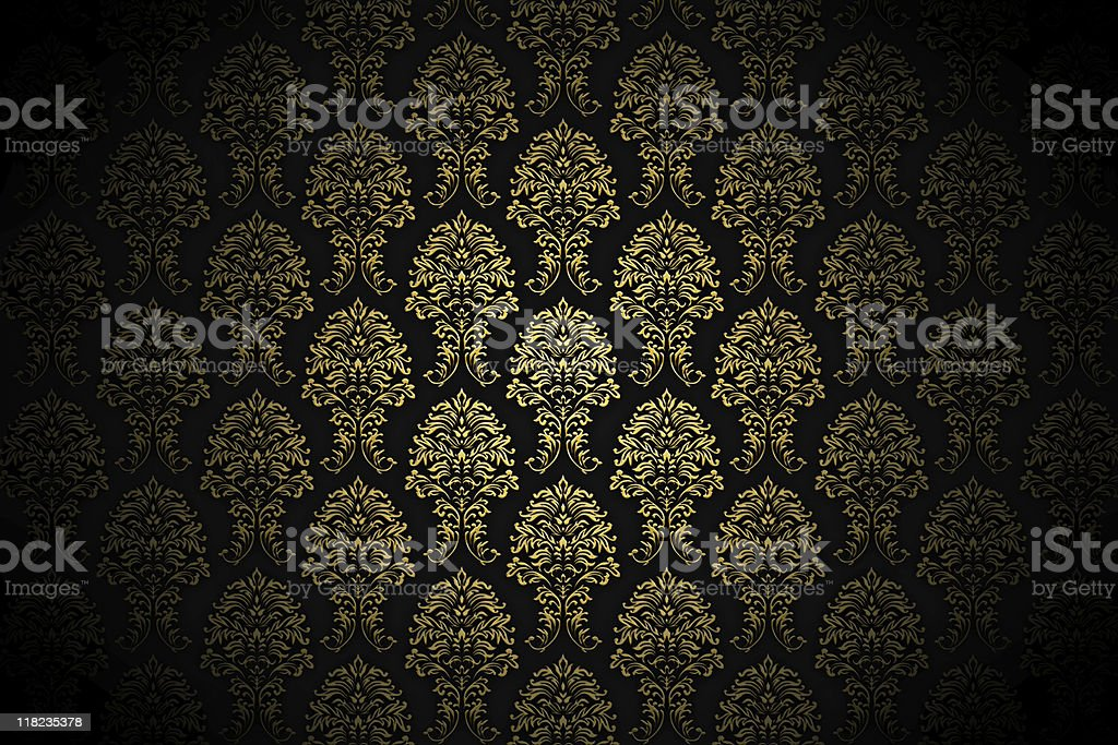 retro gold luxury wallpaper royalty-free stock photo