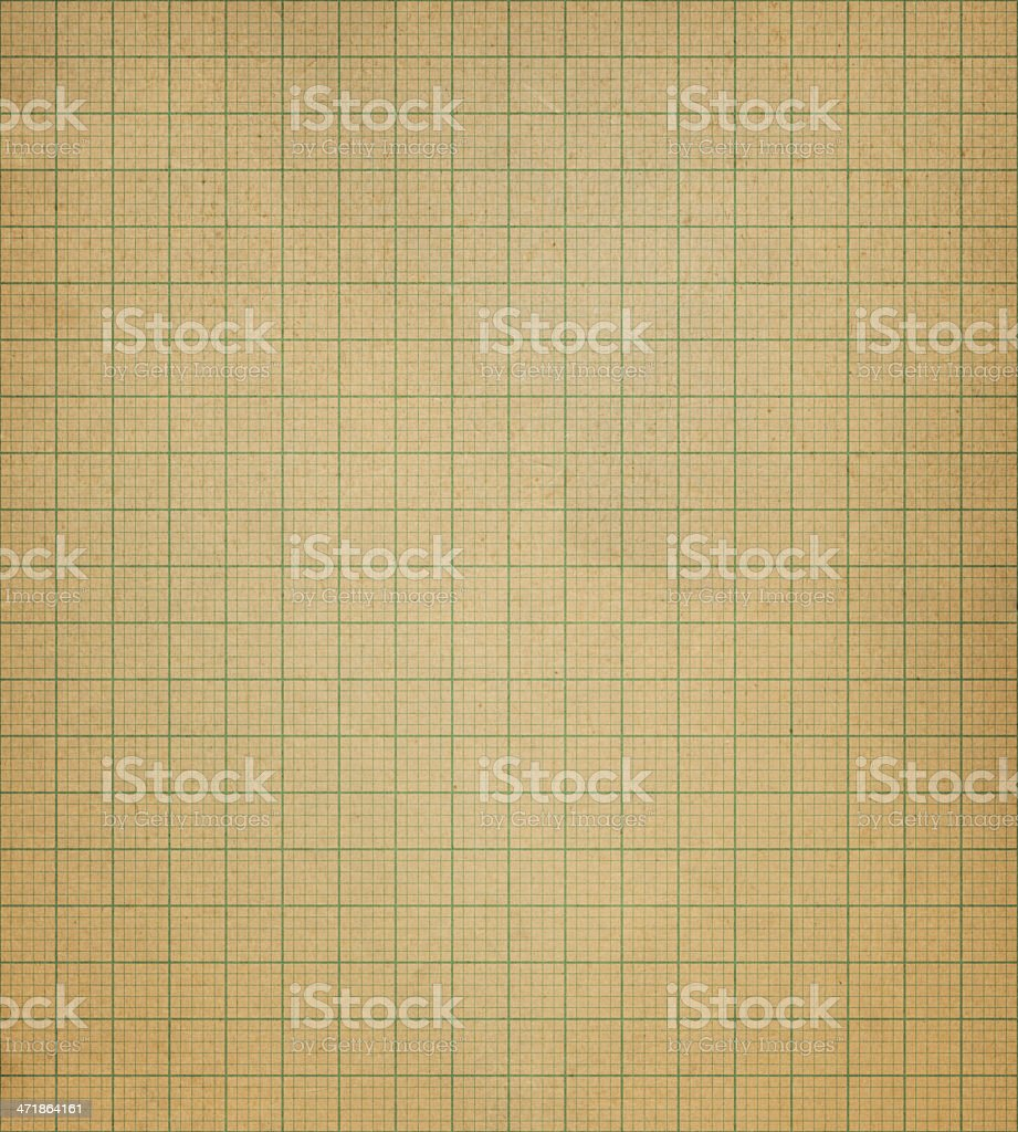 retro graph paper with green lines royalty-free stock photo