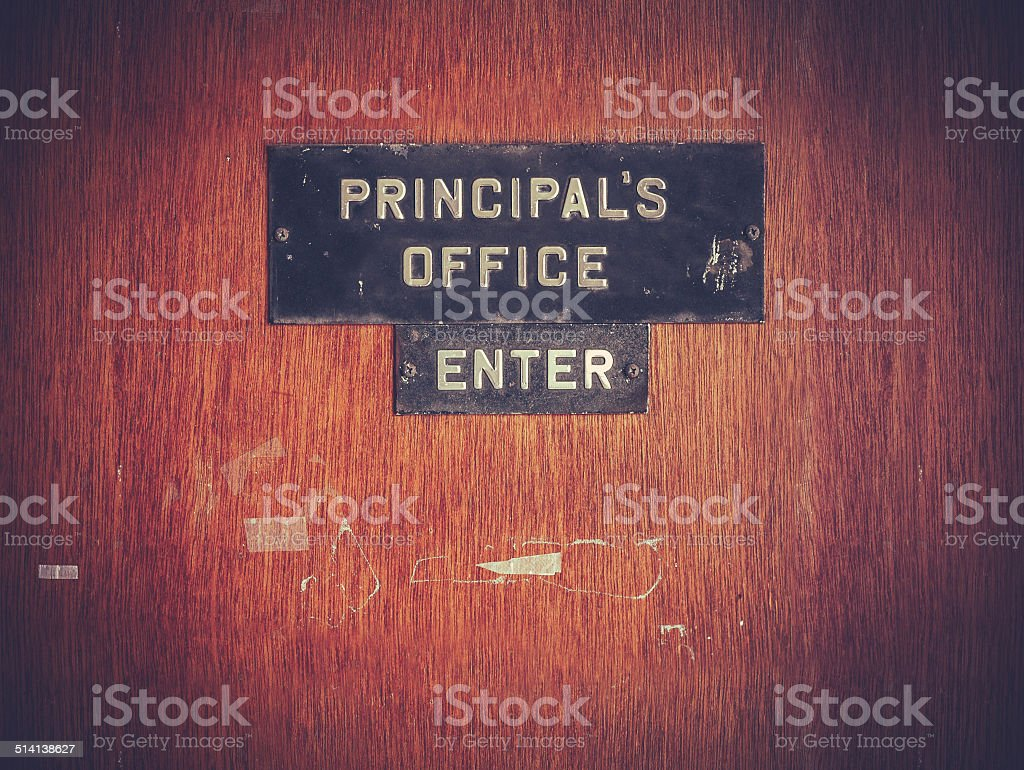 Retro Grunge Principal Office stock photo