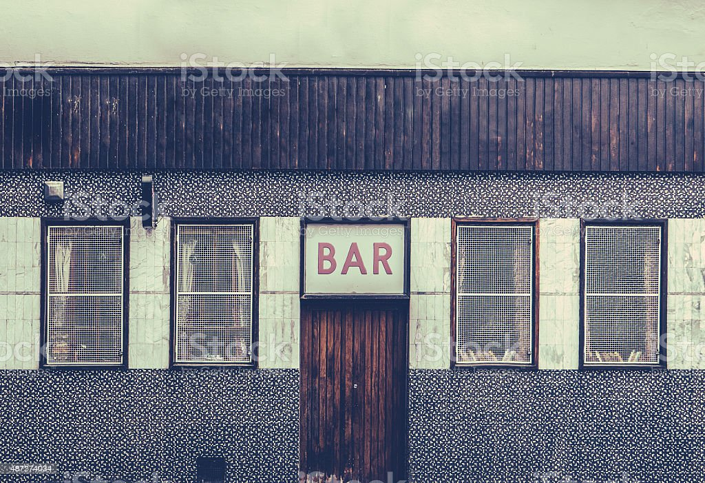 Retro Grungy Urban Bar stock photo