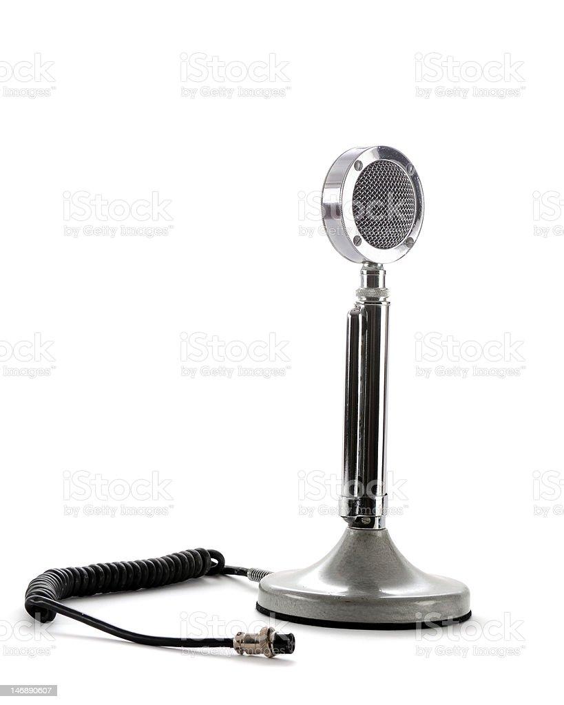 Retro Ham-Radio Microphone stock photo