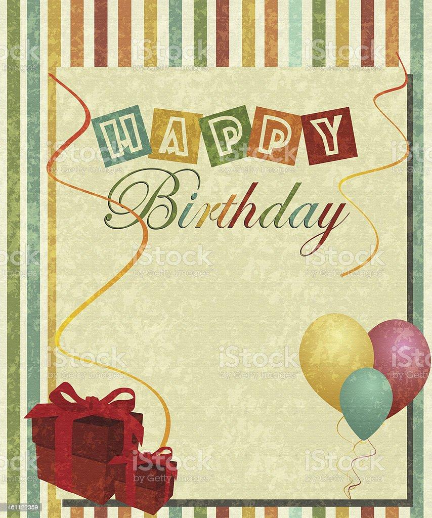 Retro Happy Birthday stock photo