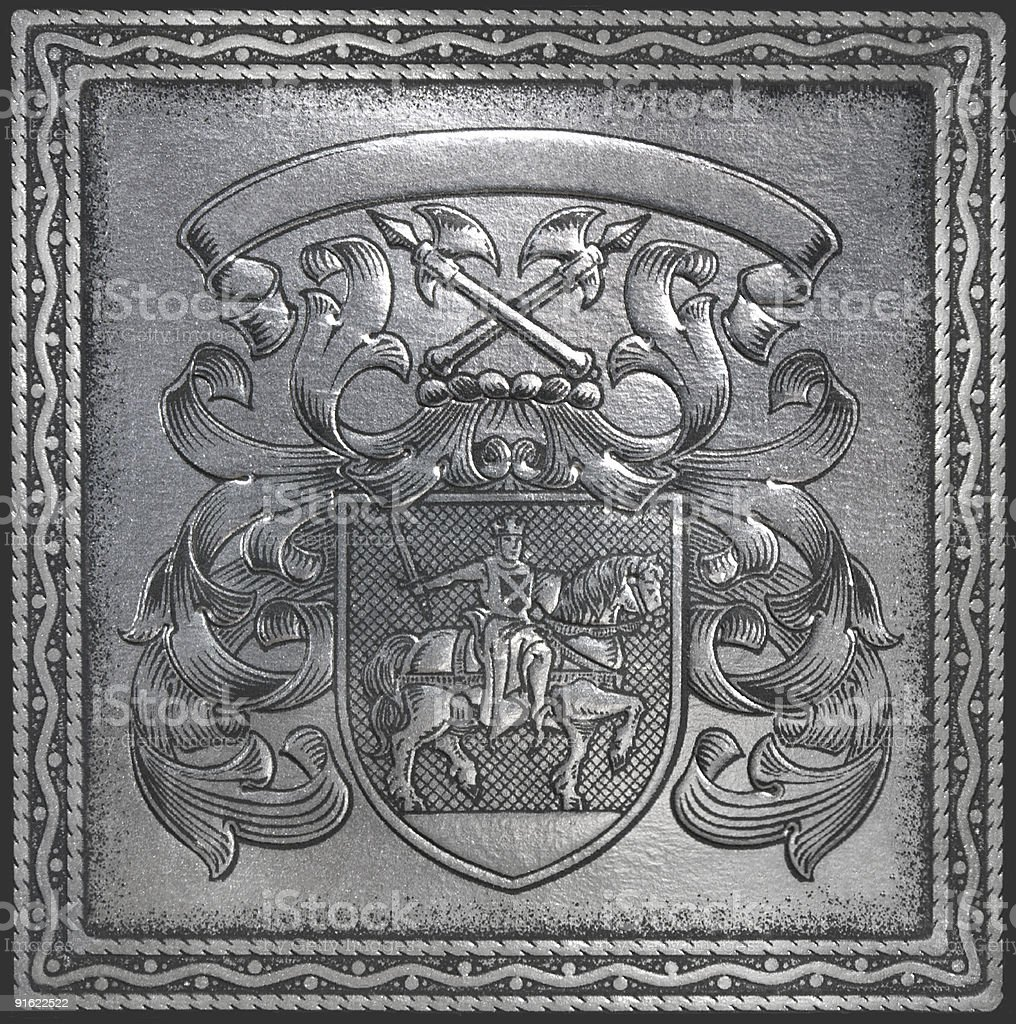 retro heraldry royalty-free stock photo