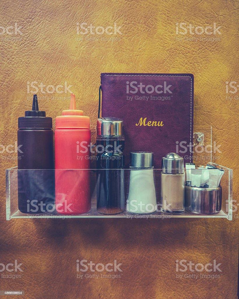Retro Hipster Diner Detail stock photo