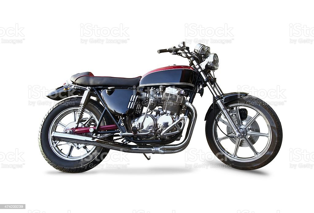 Retro Honda 1970s motorcycle stock photo