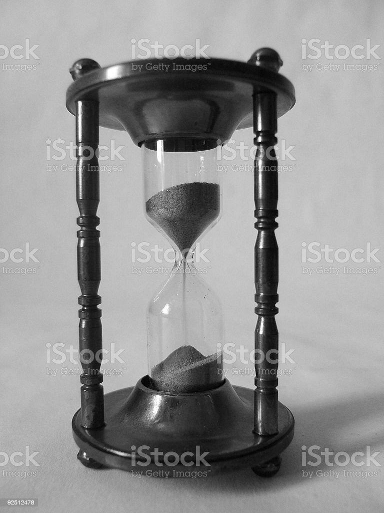 Retro hourglass stock photo