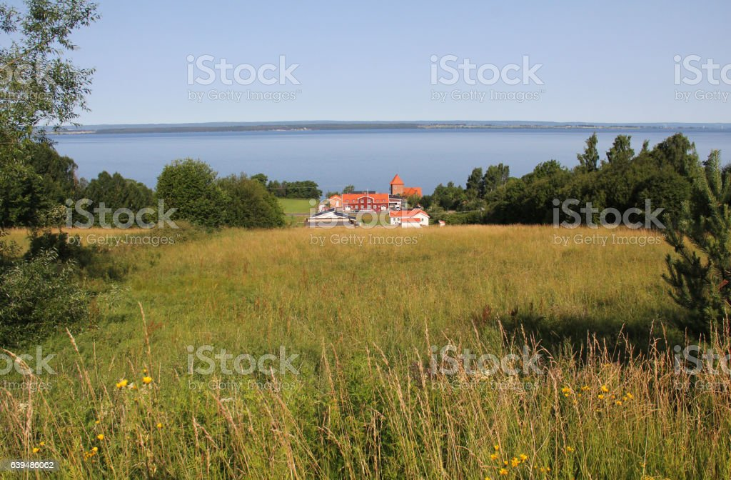 Retro house out summer stock photo
