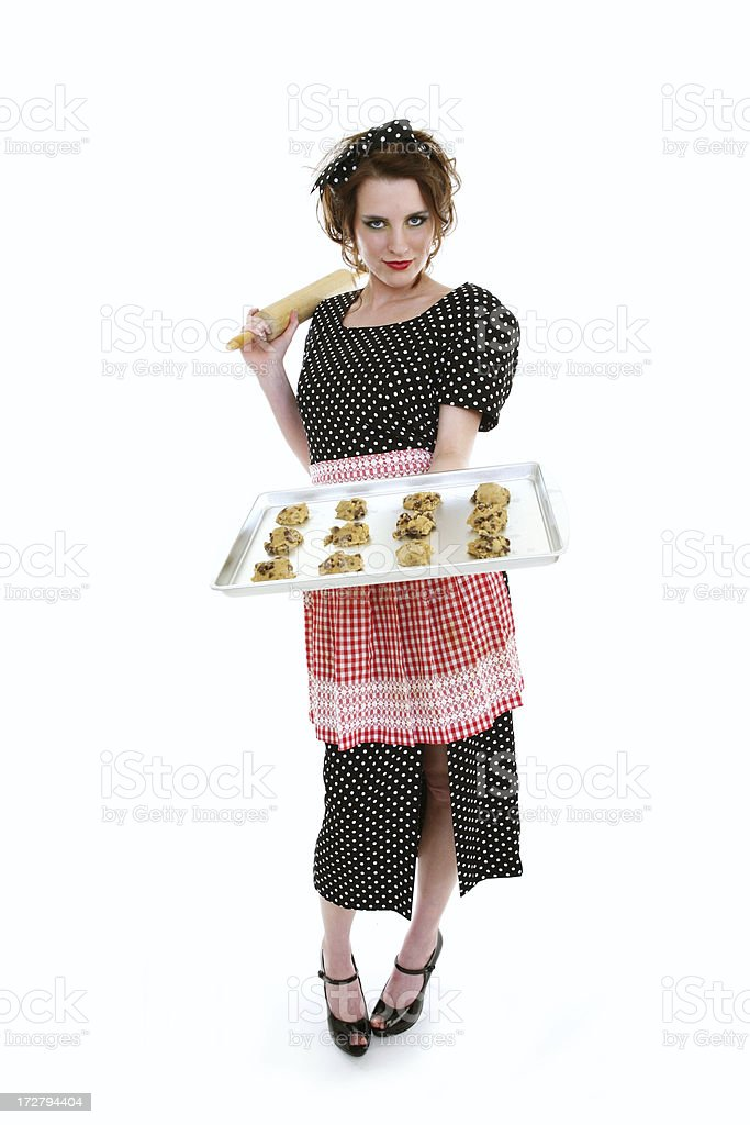 Retro Housewife Cookies Series royalty-free stock photo