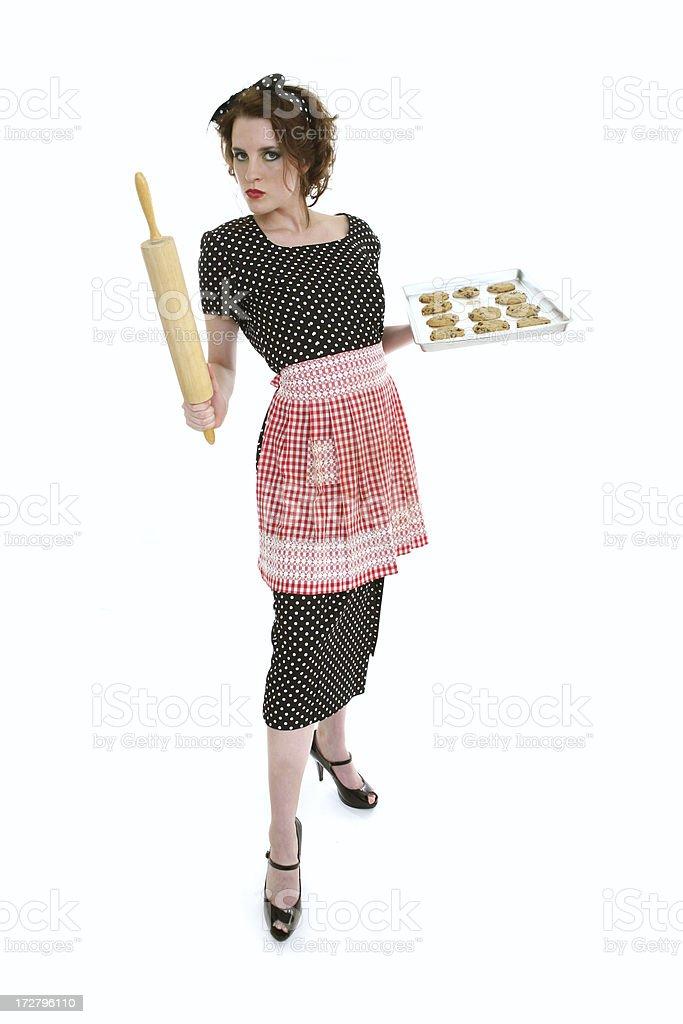 Retro Housewife Cookies Series royalty-free stock photo