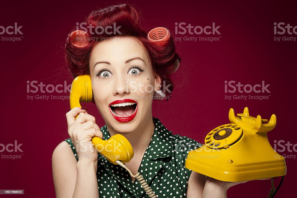 Retro housewife stock photo