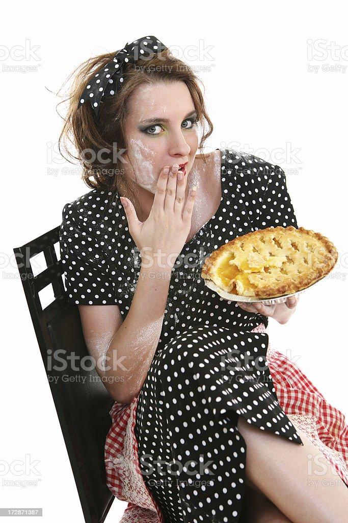 Retro Housewife Pie Series stock photo
