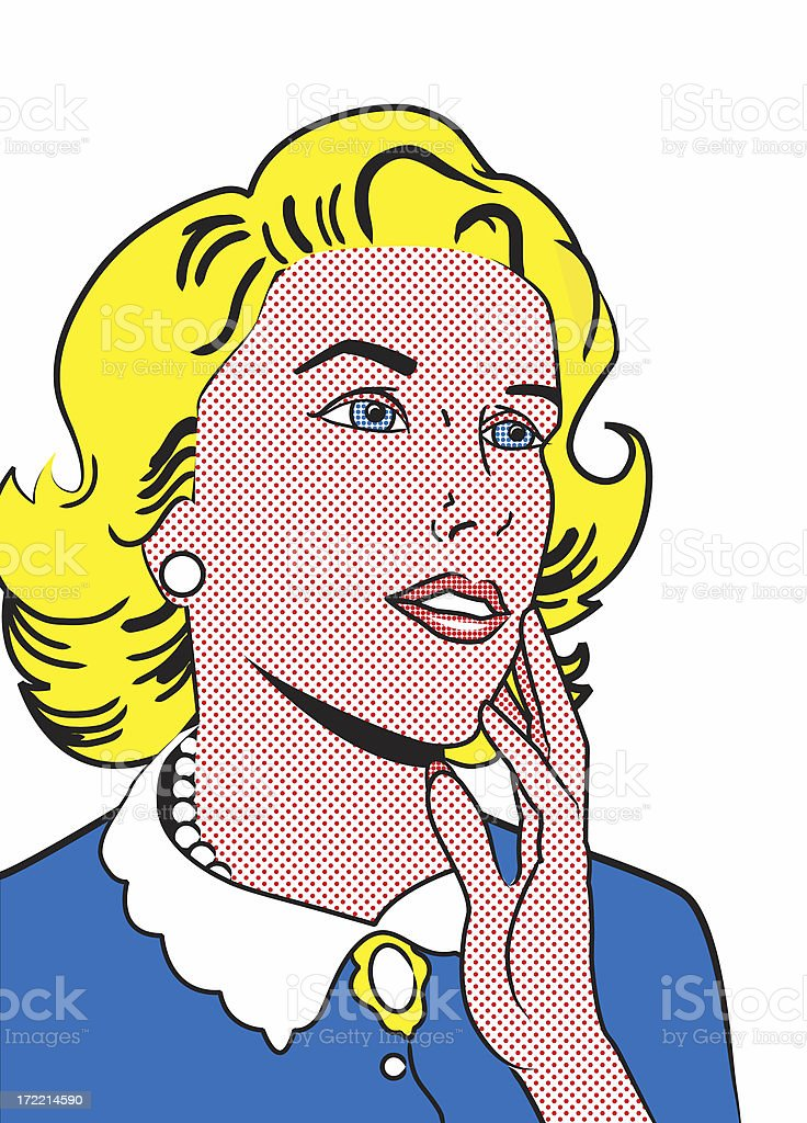 Retro Illustration - Woman Isolated stock photo
