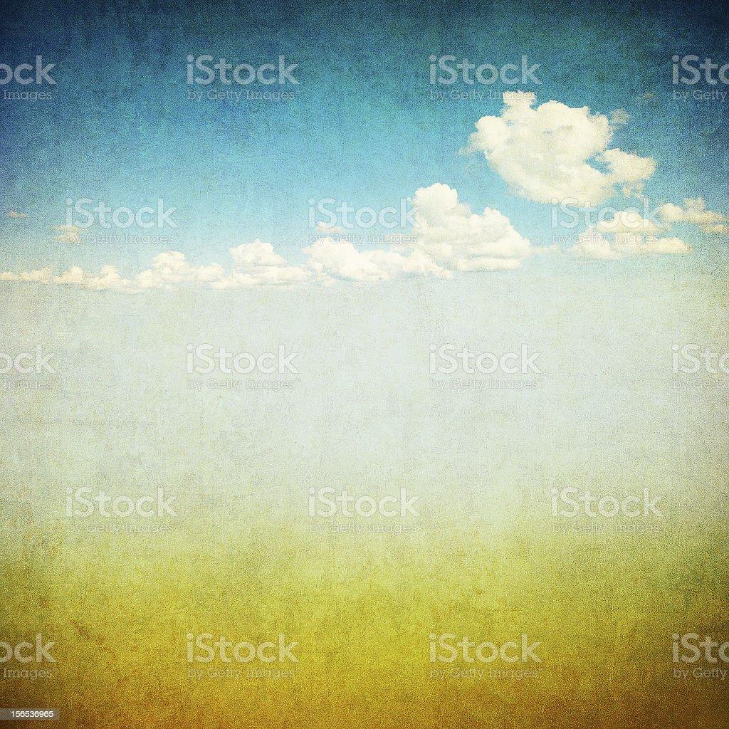 retro image of cloudy sky royalty-free stock photo