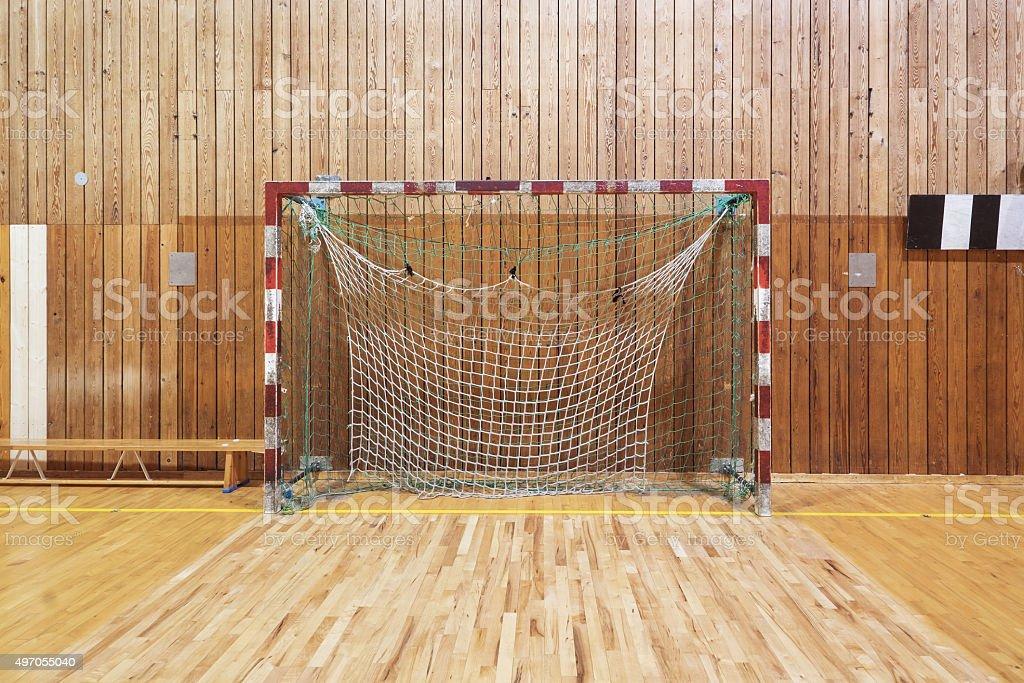 Retro Indoor Soccer Goal stock photo 497055040 | iStock