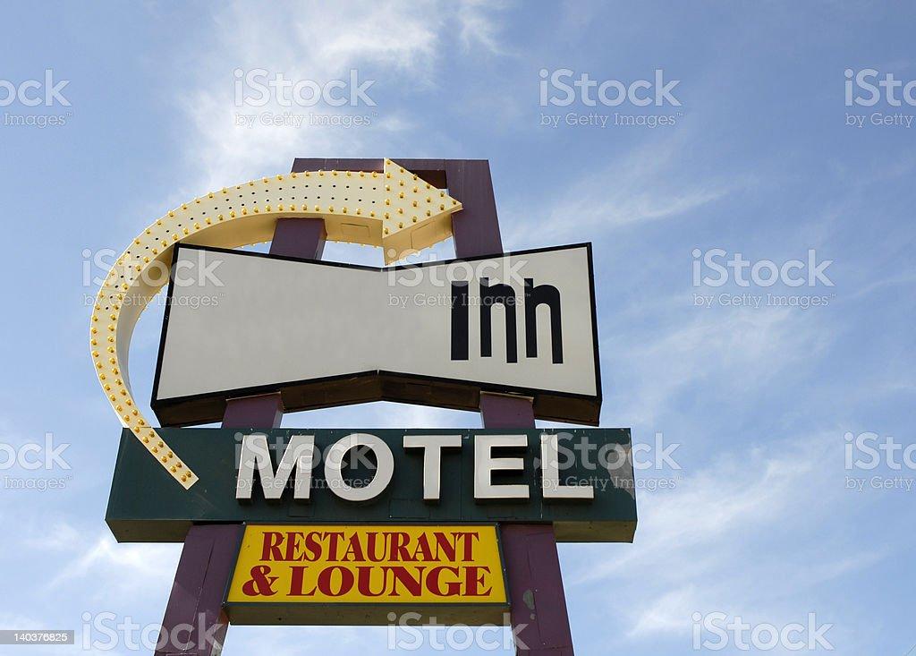 Retro Inn sign royalty-free stock photo