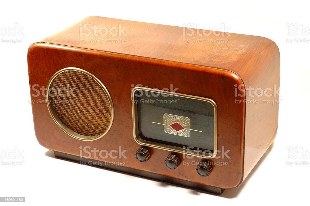 Retro italian radio stock photo