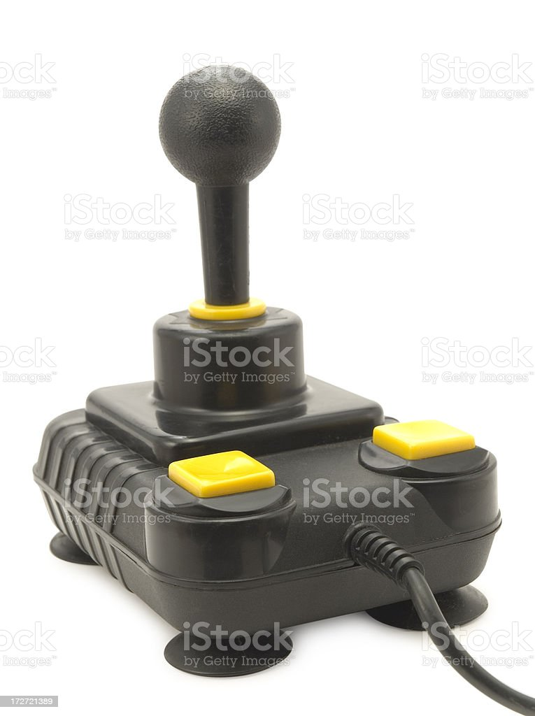 Retro Joystick w/ Clipping path royalty-free stock photo