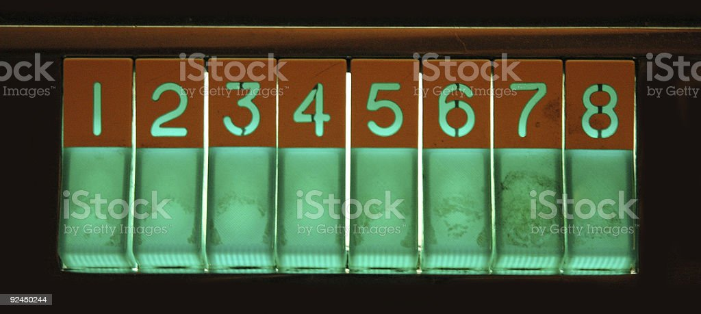 Retro Jukebox Buttons royalty-free stock photo