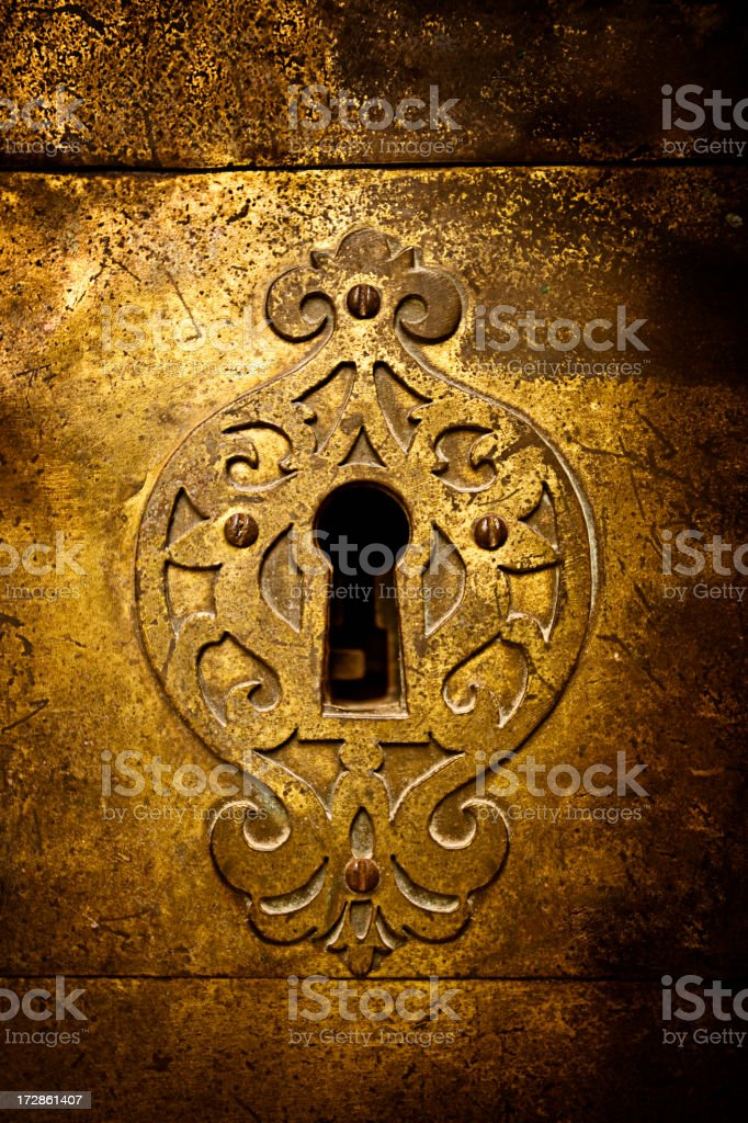 Retro keyhole stock photo