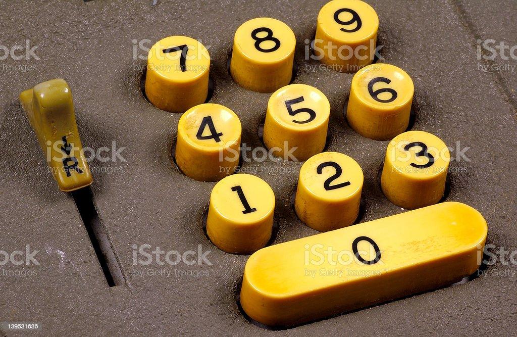 Retro Keypad stock photo
