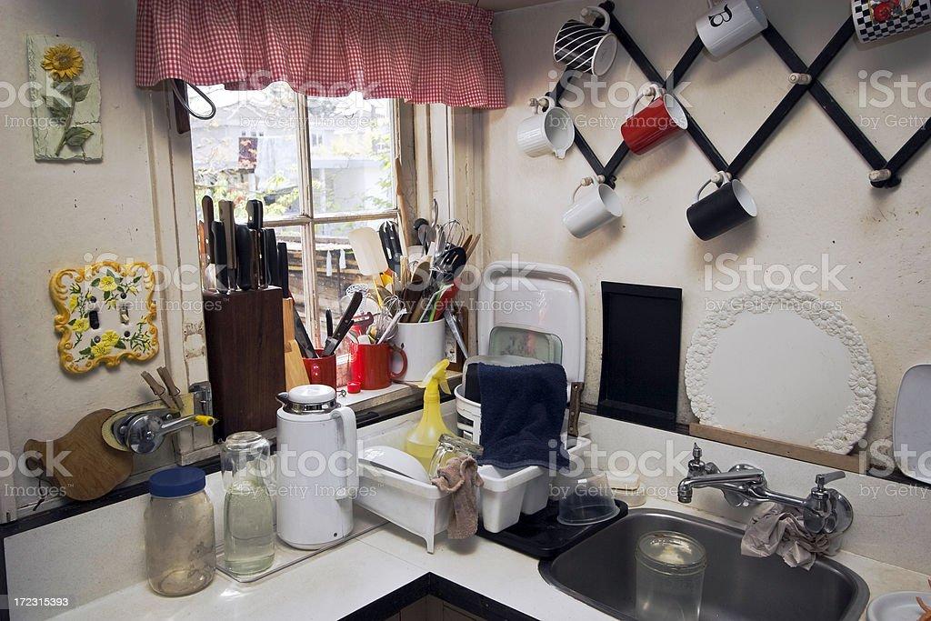 Retro Kitchen. royalty-free stock photo