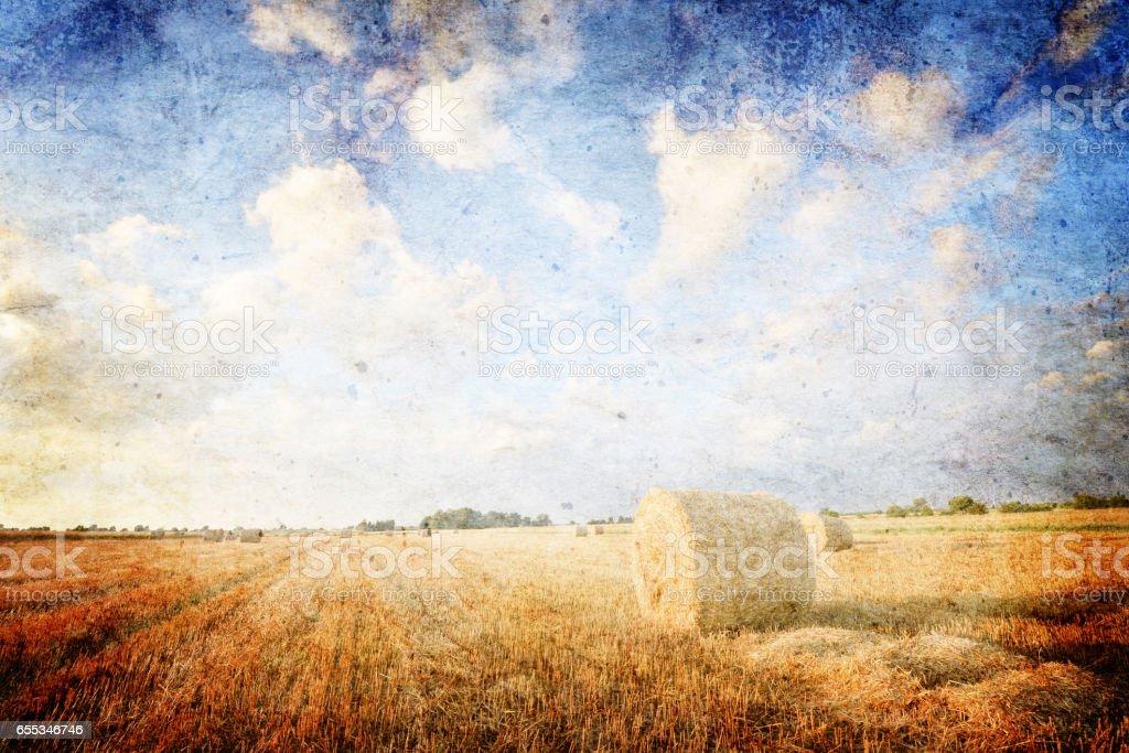 Retro landscape stock photo