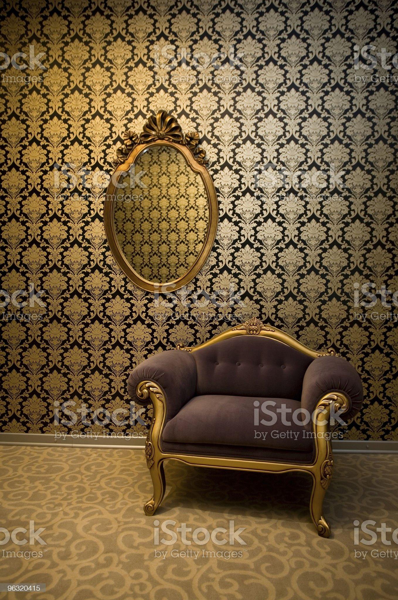 Retro leaving room royalty-free stock photo