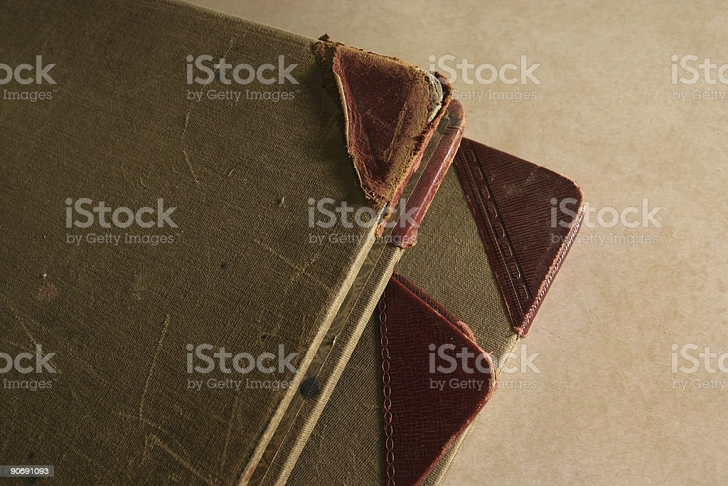 Retro Ledgers and Corners stock photo
