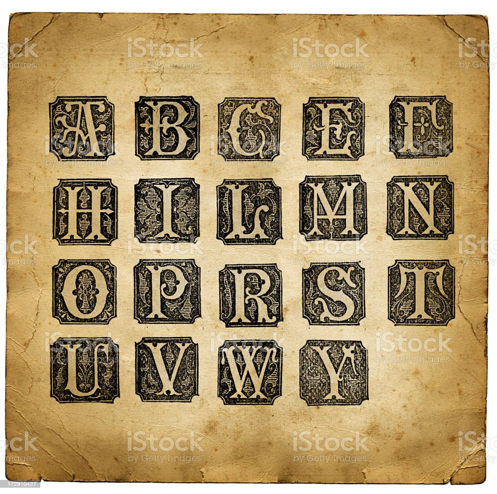 Retro letters royalty-free stock photo