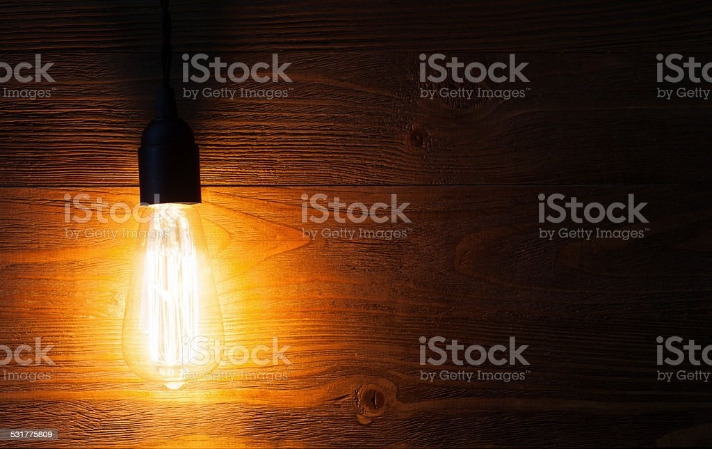 retro  light bulb stock photo