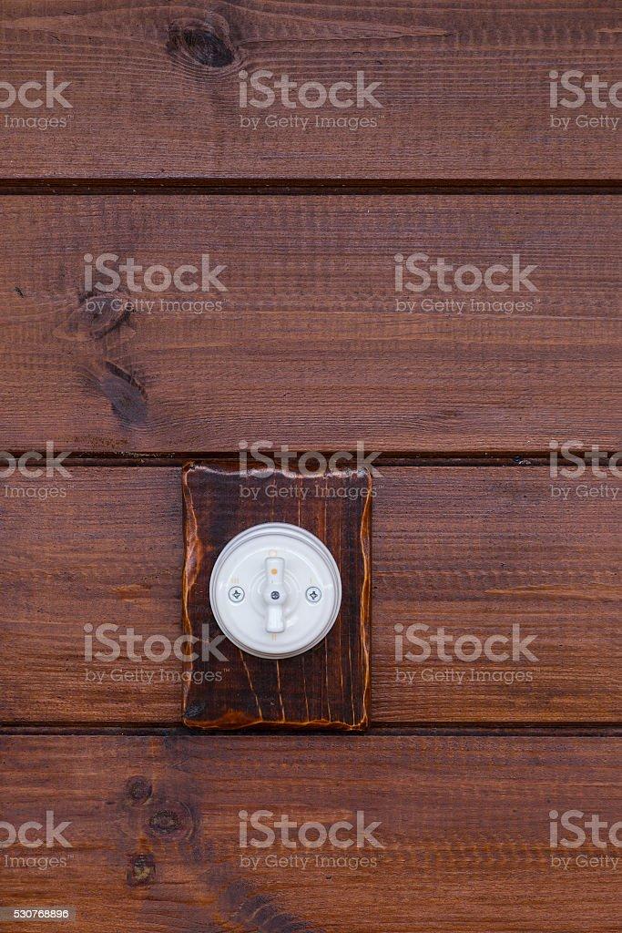 Retro light switch stock photo