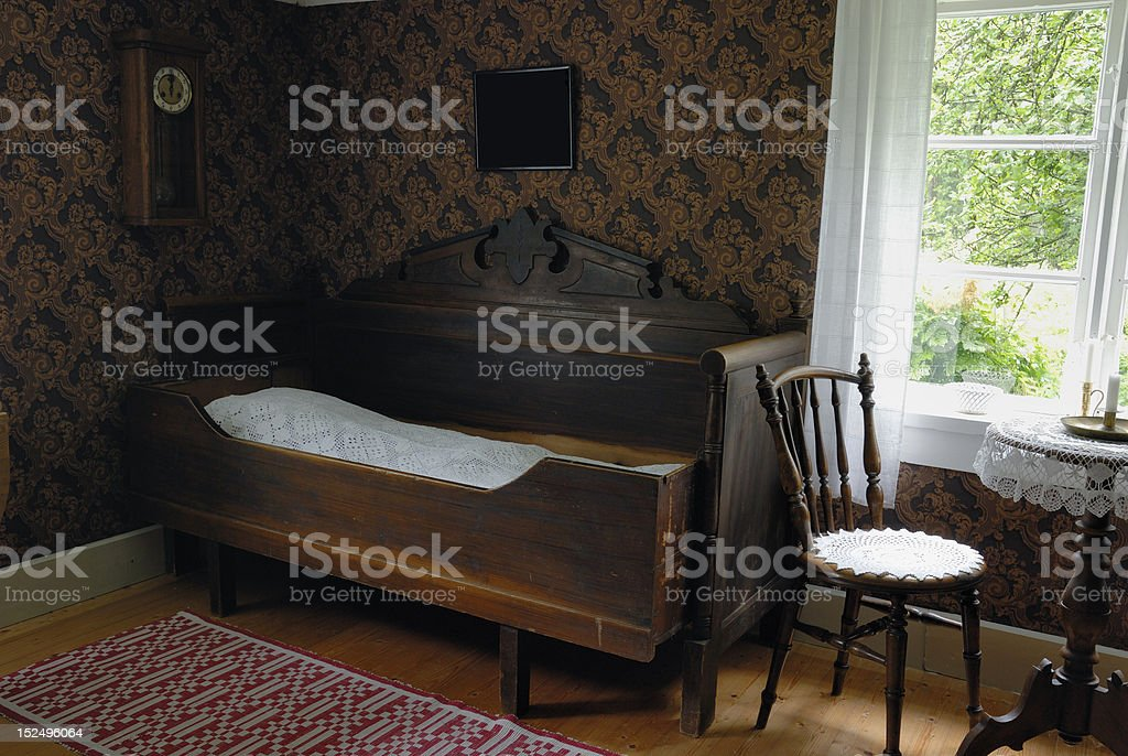 Retro living room royalty-free stock photo