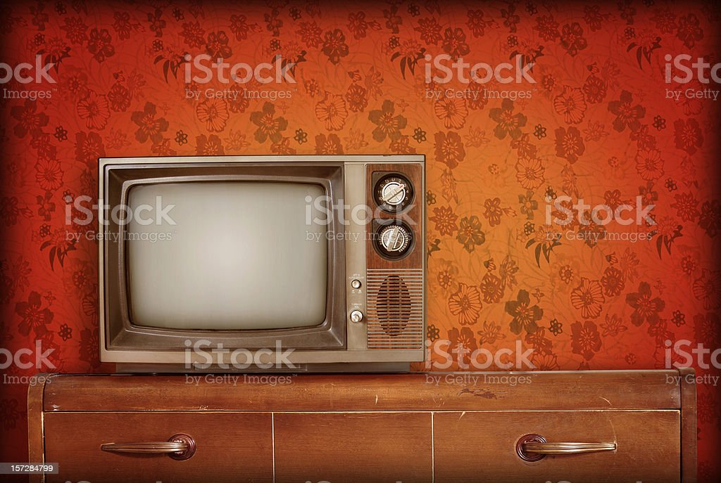 Retro living room stock photo