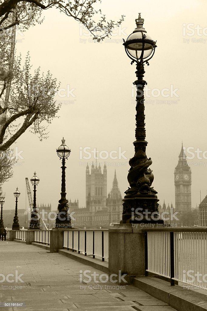 Retro London stock photo