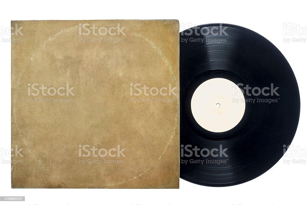 Retro Long Play Vinyl Record With Sleeve. stock photo